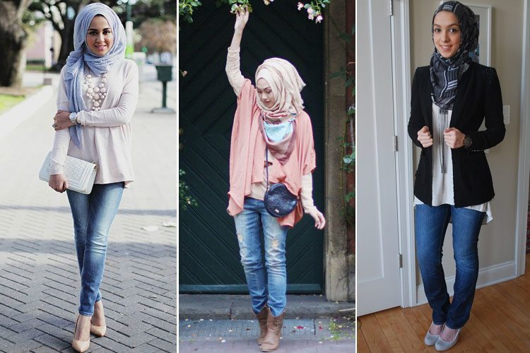 How To Wear Hijab With Denims