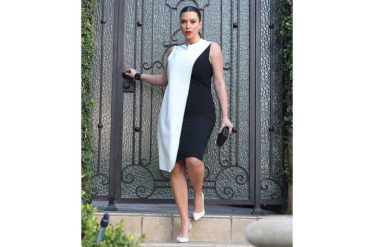 Kim Kardashian monochrome black
