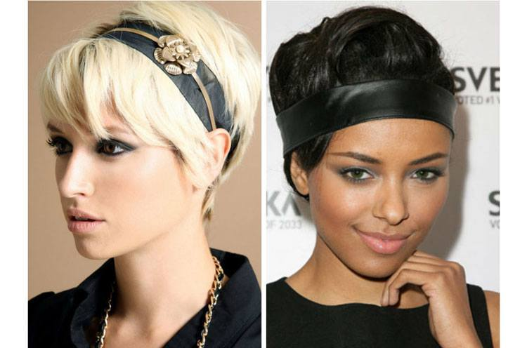 Leather Headbands for Short Hair