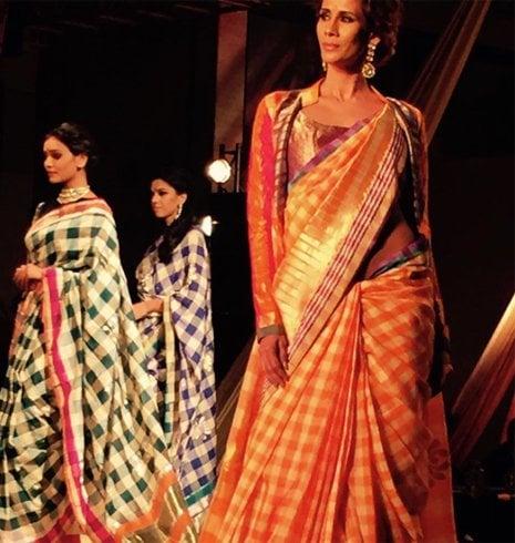 Manish Malhotra Banarasi Chequered Saree