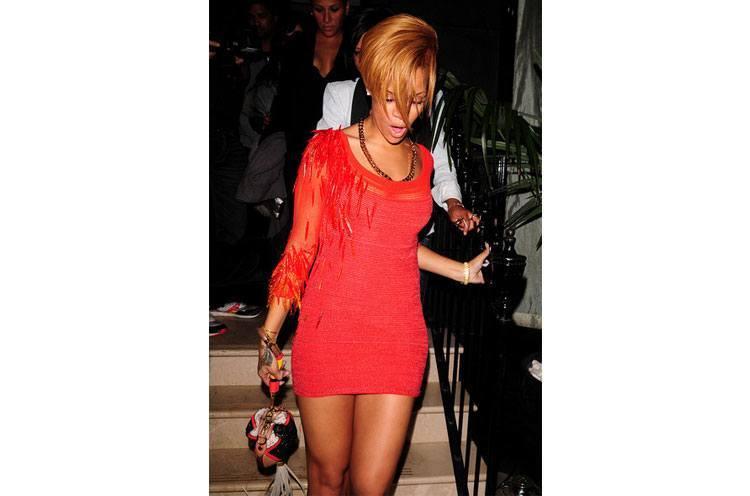 Rihanna swaps an LBD for an LRD