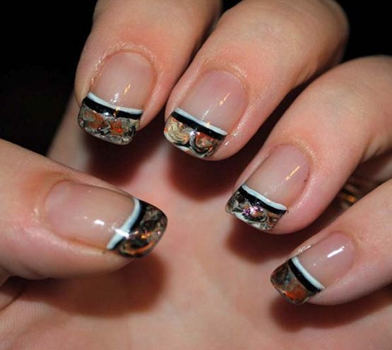 Patterns Using Tape Nail Art: Nail Art Designs You Can Do Only Using A Scotch Tape