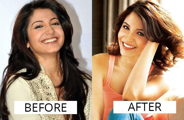 Image result for anushka sharma eyebrow makeover