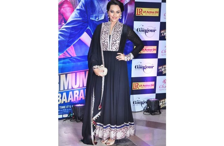 Black anarkali for Iftar Party