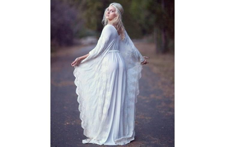 Bohemian bridal gown