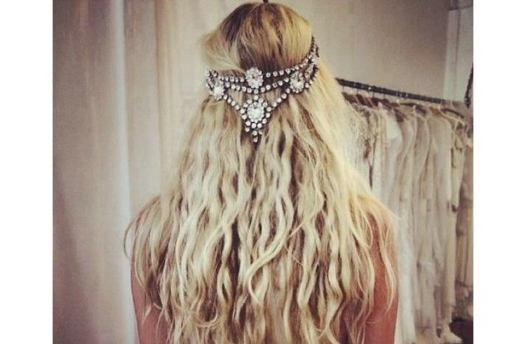 Boho wedding hair accessory