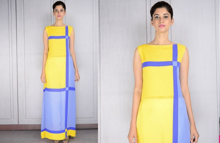 Color block tunic by Manish