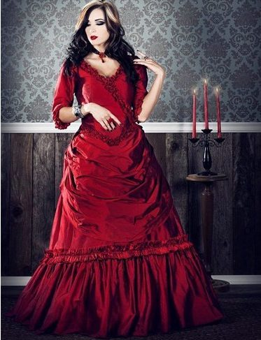 Devilish lady in red