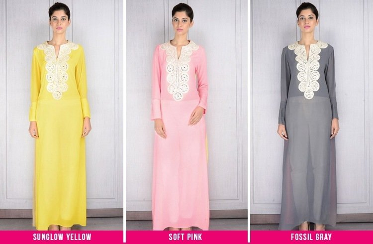 Different color tunics by Manish