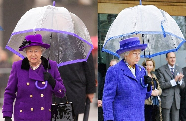Elizabeth II umbrella fashion