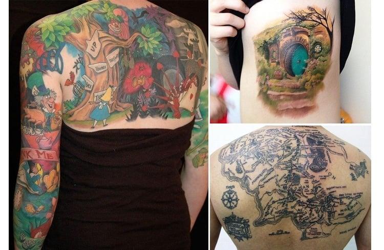 Fantasyland tattoo designs
