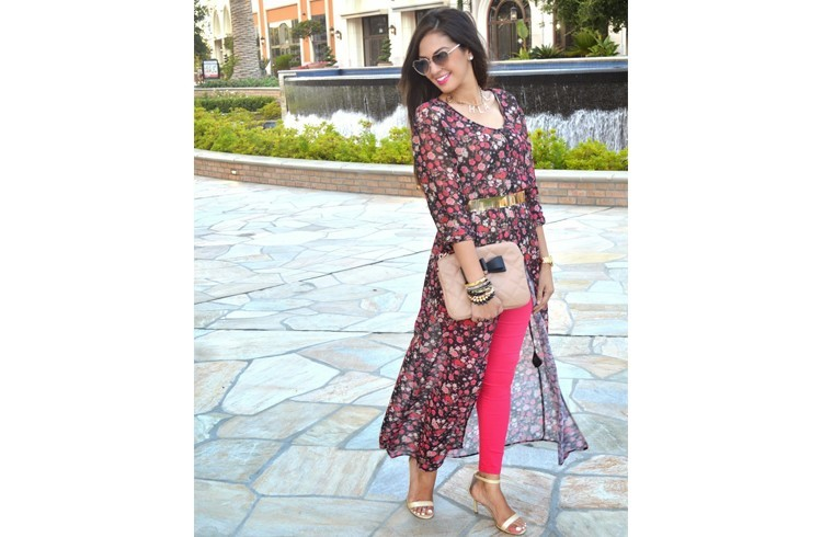 Floral dress for Iftar Party