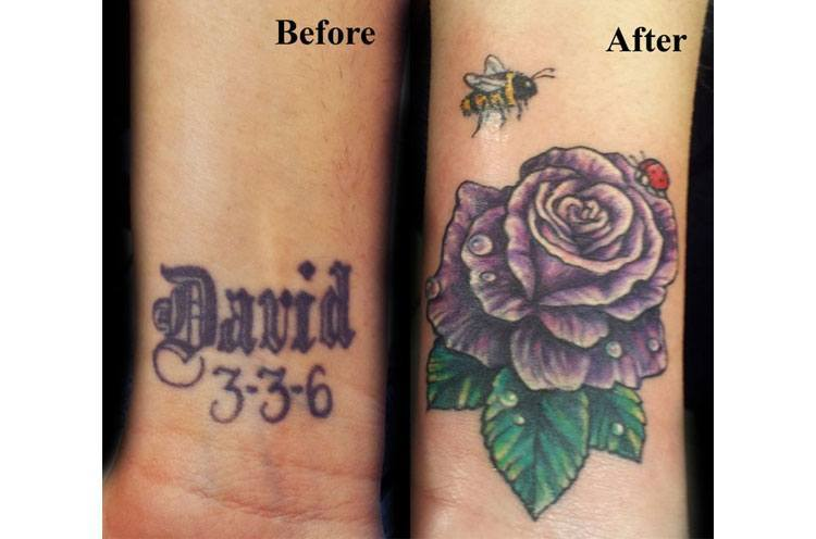 flower cover up tattoos designs