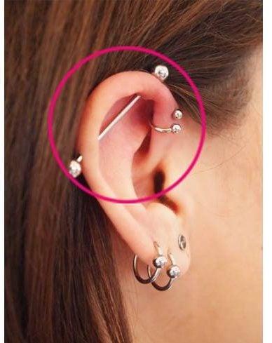 Forward Helix Piercings for Ear