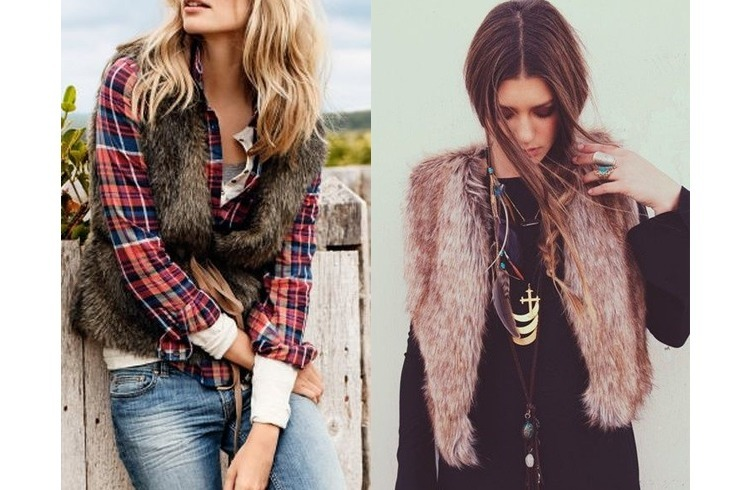 Fur vests for winter