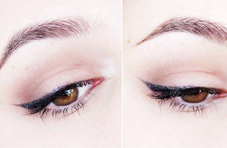 Glittery black eyeliner