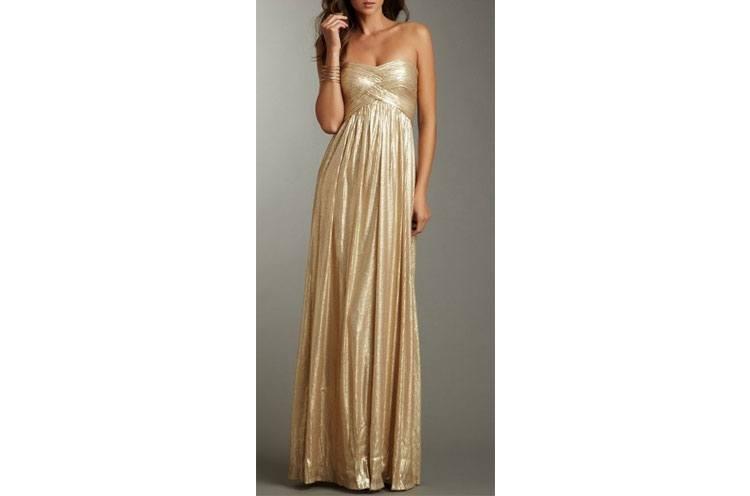 golden bridesmaid gown