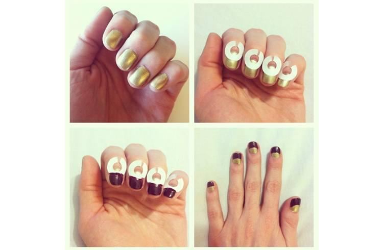 Half moon nail art designs