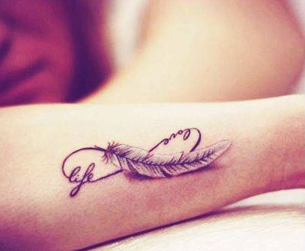 a45b66213a474 60 Infinity Tattoo Designs and Ideas with Meaning updated on July 5 ...
