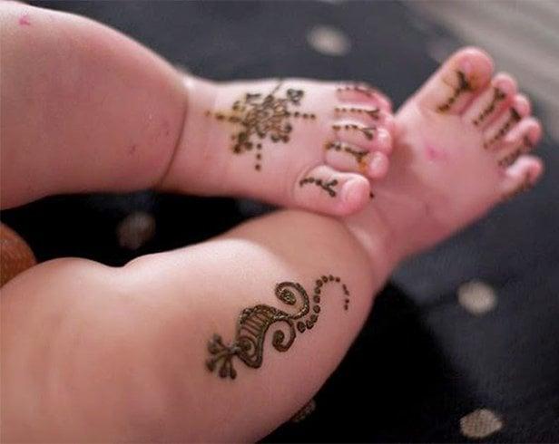 Kids Mehndi for Feet