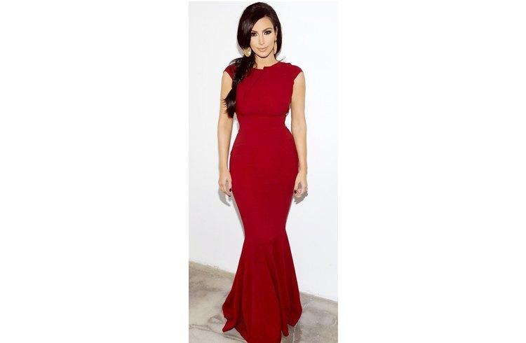 Kim in red