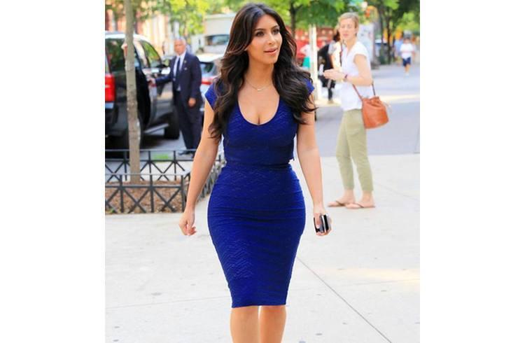 Kim kardashian inroyal blue