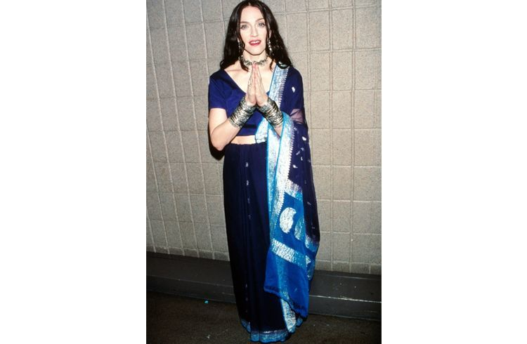Madonna in indian wear