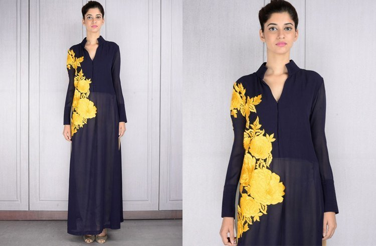 Manish Malhotra navy blue tunic