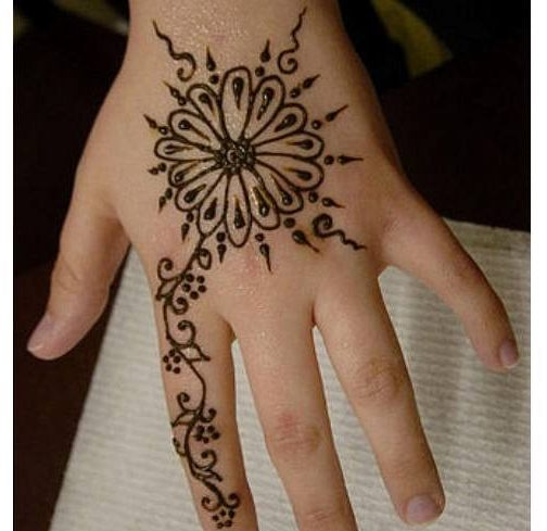 mehendi art for kids