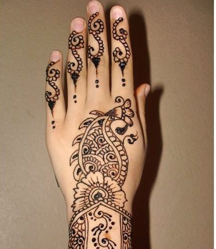 mehendi arts for kids