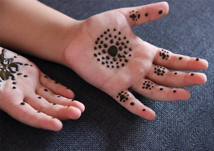 Dot Mehndi Designs for children