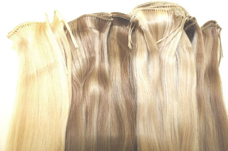 micro wefts hair extensions