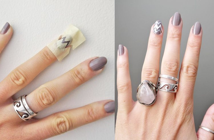 Nail art designs you can do only using a scotch tape nail art design solutioingenieria Gallery