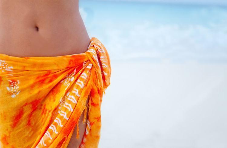 Orange colored sarong