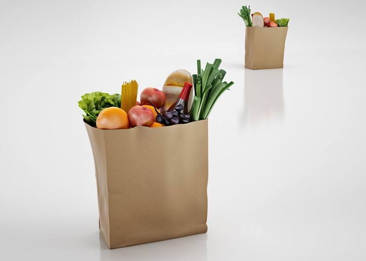paper shopping bag storage