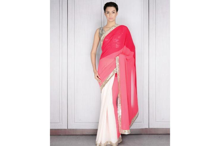 Pink mirror work Manish Malhotra saree