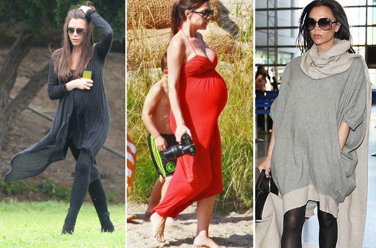 pregnant Celebs Victoria Beckham styles