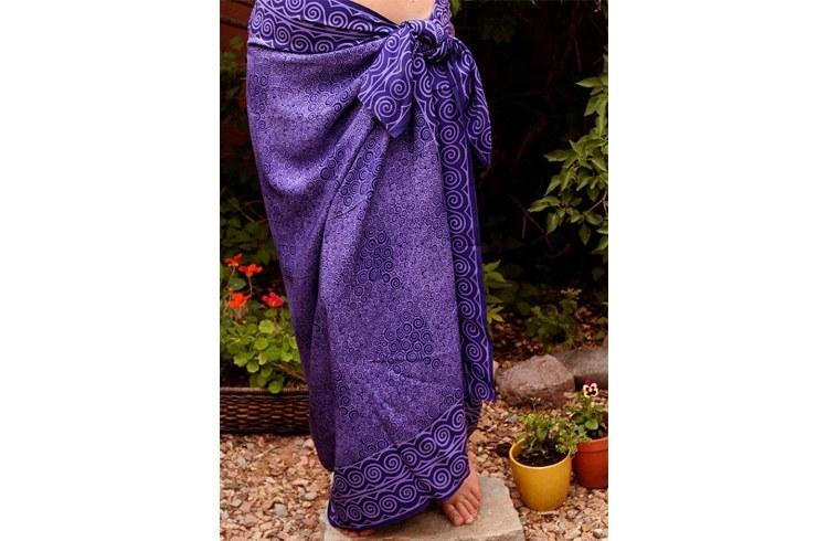 Purple printed sarongs