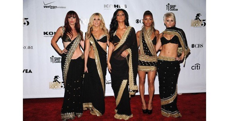 Pussycat Dolls in indian wear