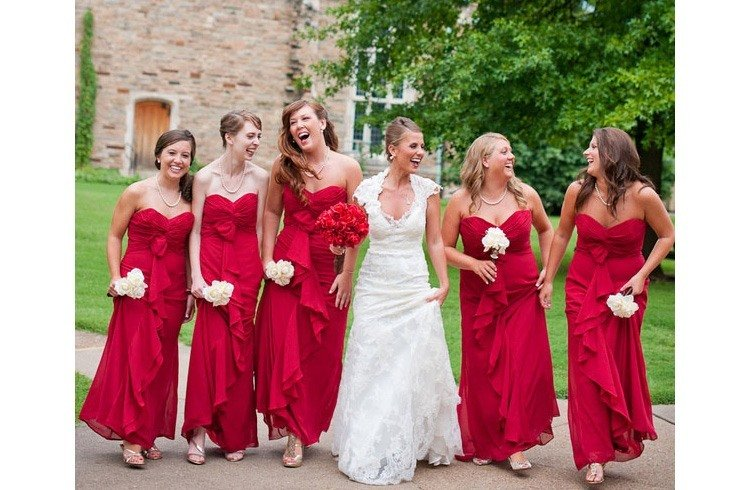 Quirky bridesmaids