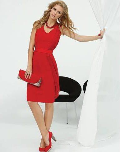 Red dress wear on date