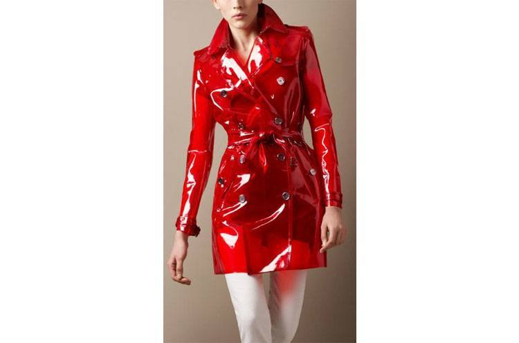 red trench coats for womens