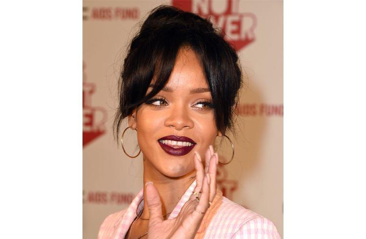 Rihanna pouts