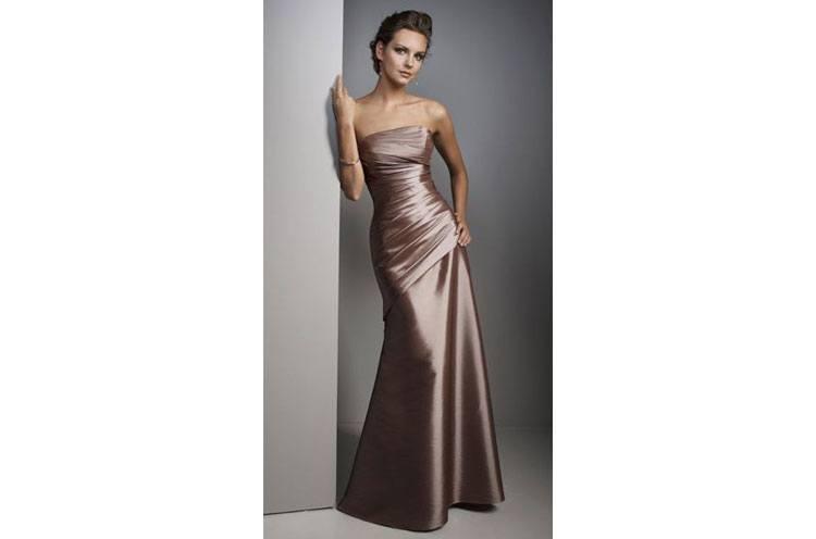 satin bridesmaid dress