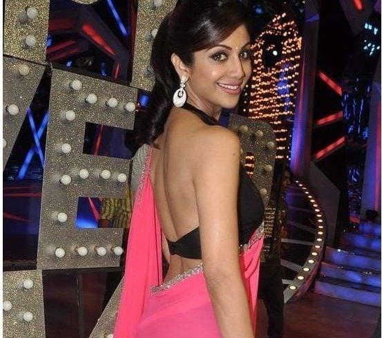 Shilpa black backless saree blouse
