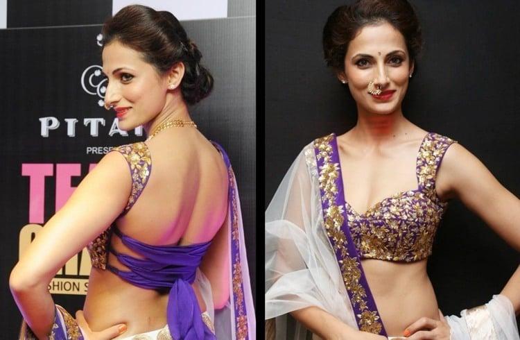 Shilpa Reddy backless fashion