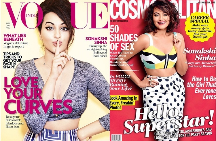 Sonakshi Sinha on magazine covers