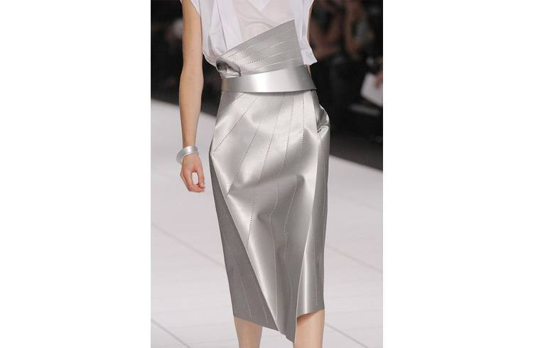 Steel grey Pencil skirt