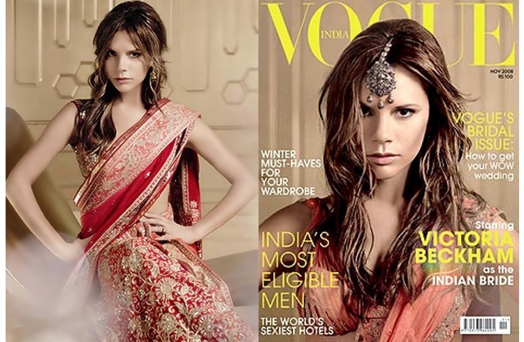 Victoria beckham in indian wear