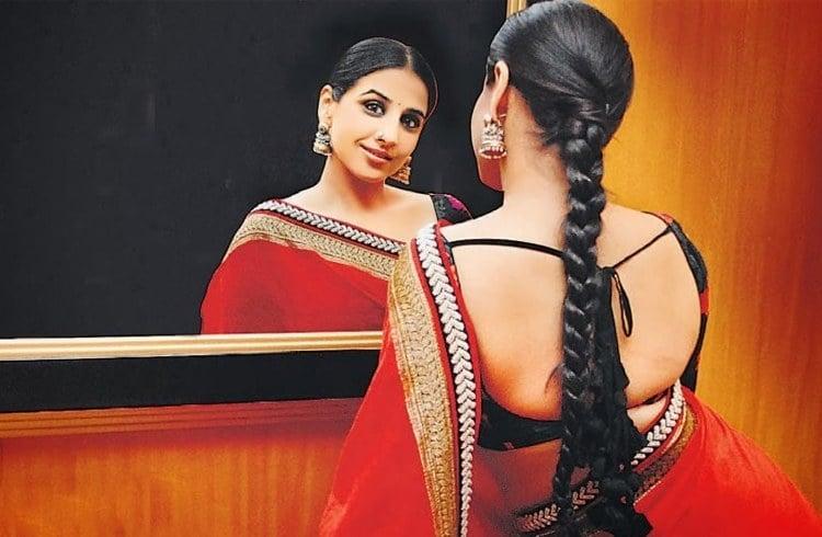 Vidya balan backless blouse